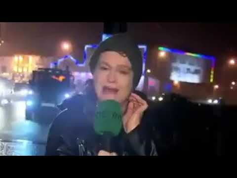 Weather Reporter Gets Hit By Stop Sign