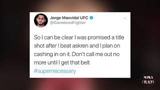Jorge Masvidal Reacts to Leon Edwards call out at UFC San Antonio