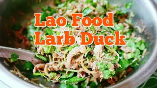 Lao Food - Mixing Larb Duck