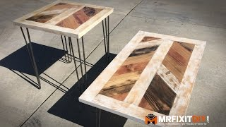 UPCYCLING AN OLD DOOR INTO A COFFEE AND END TABLE