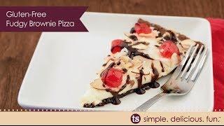 Gluten-free Fudgy Brownie Pizza