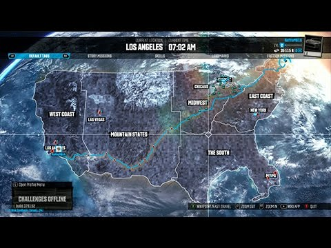 the crew gameplay recorriendo el mapa map view youtube. Black Bedroom Furniture Sets. Home Design Ideas