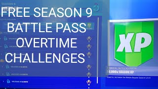 Fortnite Season 8 Overtime Challenges Free Season 9 Battle Pass