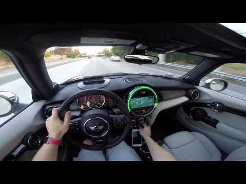 Mini Cooper F56 JCW 2016 Manual — POV Driving  Acceleration Mashup at Dusk