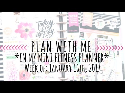 Plan With Me in The Happy Planner Mini Fitness Planner *1.16.17* (@angelecanteven)