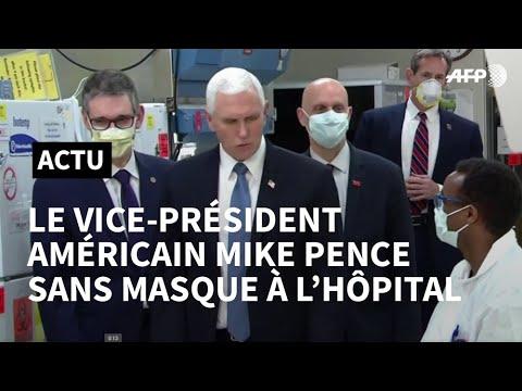 Coronavirus: le vice-président américain Mike Pence sans masque lors d'une visite à l'hôpital | AFP