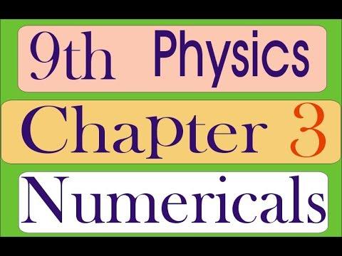Ninth 9th class Physics Chap no 3 numercal problems