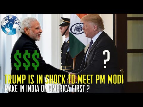 Donald Trump is in Shock to Meet Indian PM Narendra Modi