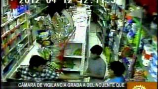 VIDEO DE ASALTO A MINIMARKET CON ESCOPETA RETROCARGA EN NUEVO CHIMBOTE