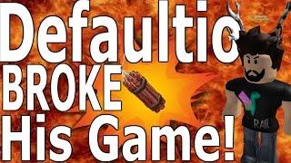 Defaultio broke his game! : Lumber Tycoon 2 : RoBlox [ Fix this PLZ ]
