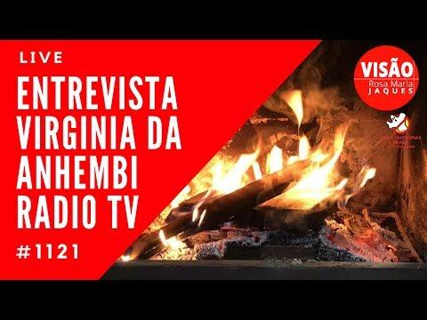 Live Entrevista Virgínia Universidade Anhembi Rádio Tv