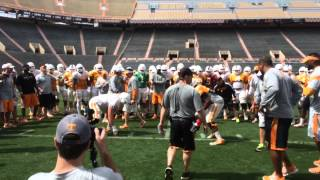 UT football practices Circle Of Life Drill