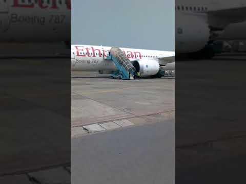 Ethiopian airline Boeing 787 departin Enugu Airpot 20-01-2018