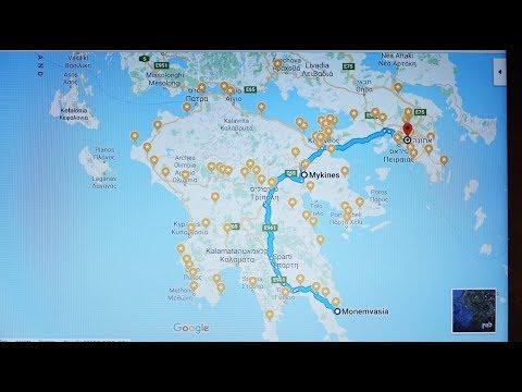 """לאתונה DRIVING IN THE """" Peloponnese"""" ALL THE  WAY Μονεμβασιά/MONEMVASIA TO ATHENS AREA  2018"""