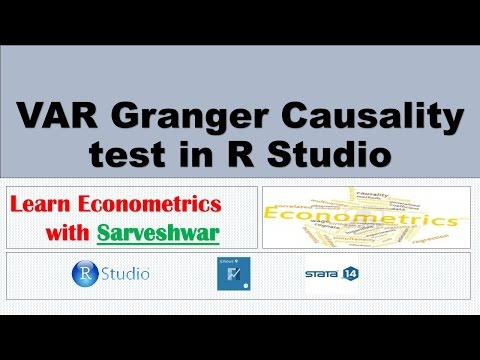 VAR Granger Causality Test In R Studio