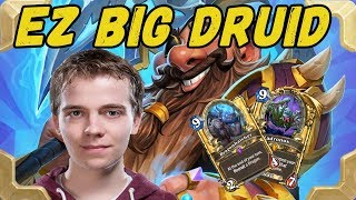 Thijs is playing BIG EZ Druid in legend (The Witchwood)