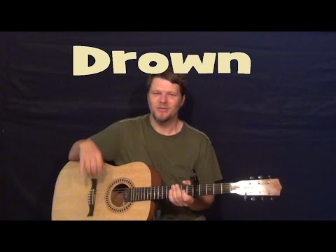 Drown (Front Porch Step) Easy Guitar Lesson How to Play Tutorial