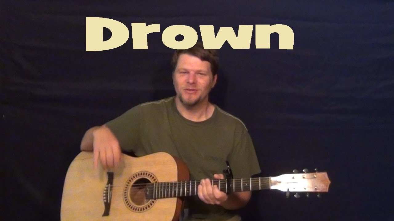 Drown front porch step easy guitar lesson how to play tutorial