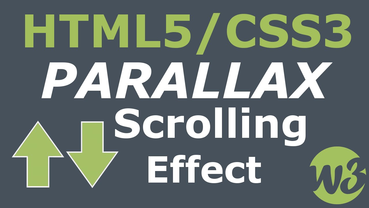 Simple Parallax Scrolling Effect With Html5 & Css3  Youtube
