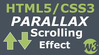 Simple Parallax Scrolling Effect With HTML5 & CSS3