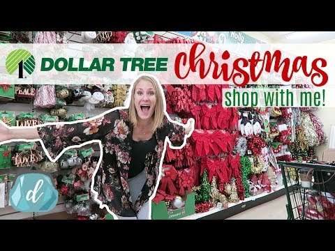 DOLLAR TREE CHRISTMAS SHOP WITH ME! 🎄❤️ DIY & Decor Haul 2017