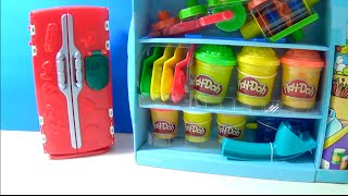 Unboxing PlayDoh SuperMarket Store Playset Food Refrigerator RARE Set Fruit Ice Cream thumbnail