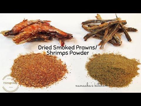 Homemade Dried Smoked Prawns/Shrimps and fish Powder✔