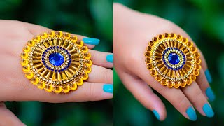 Make a ring for special occasion | paper ring | Party wear | Crafty Butterfly