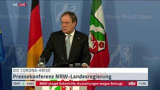 Live: Pressekonferenz Mit Nrw-chef Laschet Zum Forschungsprojekt Corona In Heinsberg