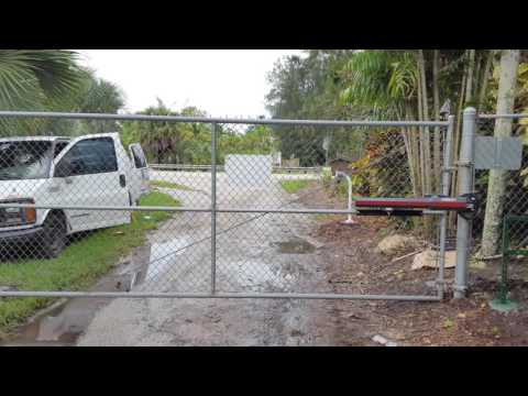 Liftmaster swing gate opener motor installation youtube for Electric motor repair fort lauderdale