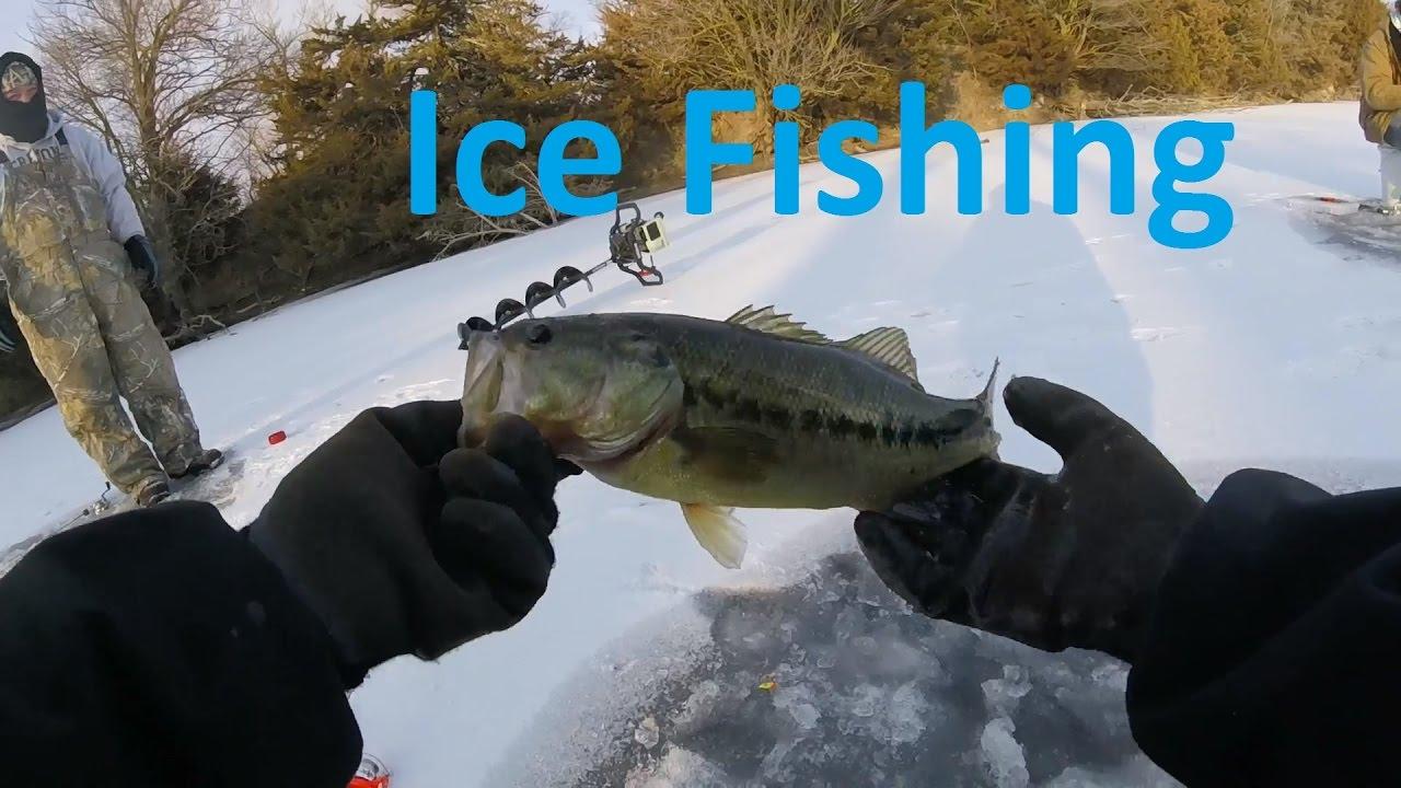 Cold wind and thin ice nebraska ice fishing youtube for Ice fishing nebraska