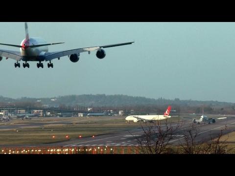 London Heathrow Landings Runway 27R (Aircraft of interest time links) 26.12.17 Part 1
