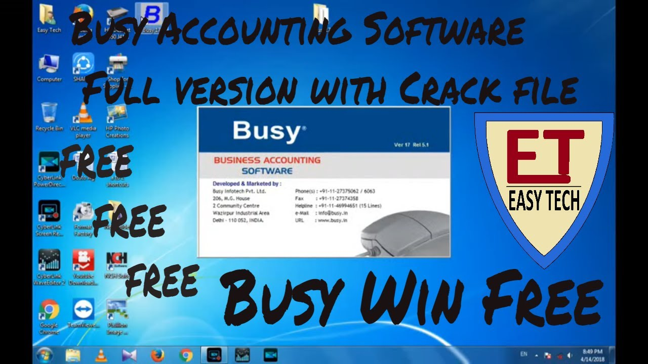 busy gst accounting software crack
