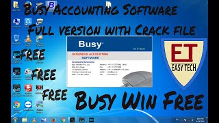 Busy Accounting Software 17.5.1 full version(with crack file)