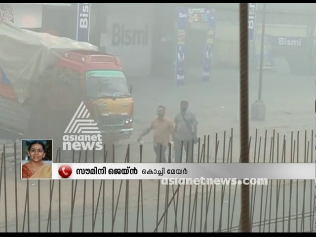 Kochi mayor Soumini Jain doubts on continuous fire in the Brahmapuram waste plant
