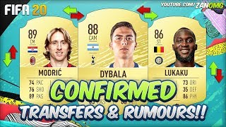 FIFA 20 | NEW CONFIRMED TRANSFERS & RUMOURS!! | FT. DYBALA, MODRIC, LUKAKU...