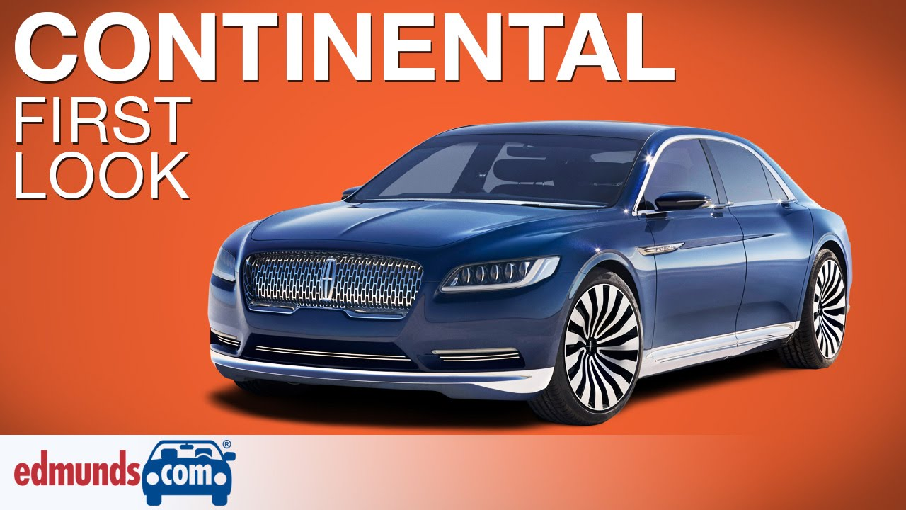 Awesome Lincoln Continental Concept First Look  New York Auto