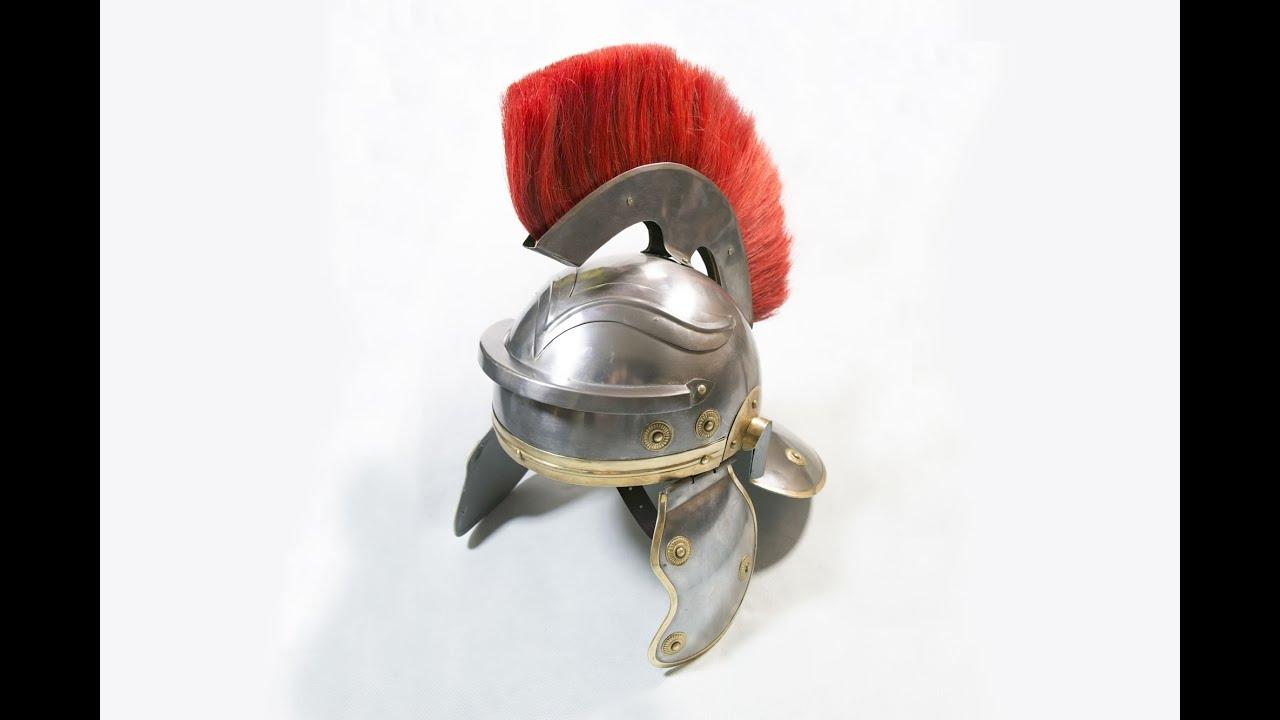 roman centurion helmet youtube