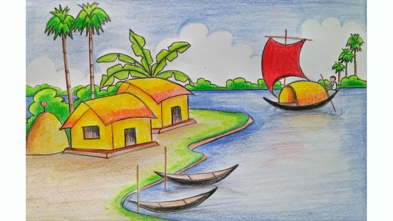 This is a graphic of Amazing Easy Scenery Drawing