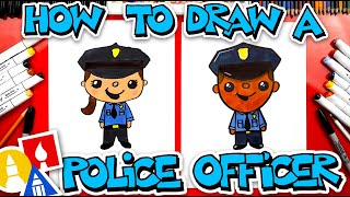 How To Draw A Police Officer  - #stayhome and draw #withme