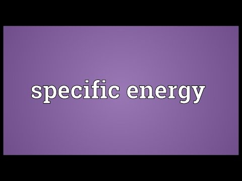 Specific energy Meaning