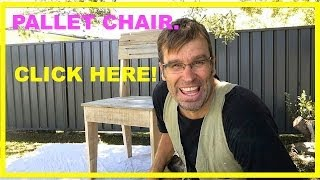 How to Make a Pallet Chair. Using Rustic, Recycled Pallet Wood.