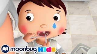 Going To The Dentist   Nursery Rhymes ABCs & 123s   Kids Videos   Moonbug Kids After School