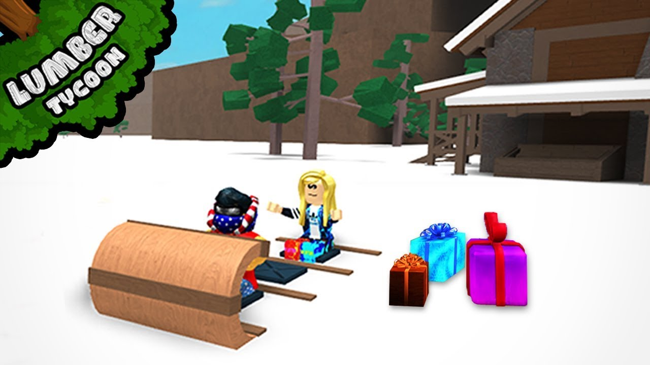 Roblox Christmas Gift 2018 2018 Christmas Gifts Opening In Lumber Tycoon 2 Roblox Youtube