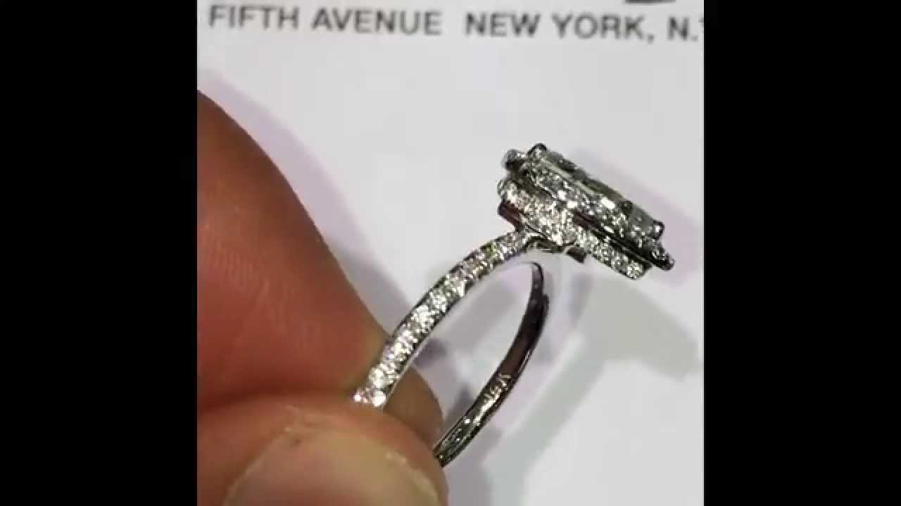 140 ct Pear cut Diamond Engagement Ring in Halo YouTube