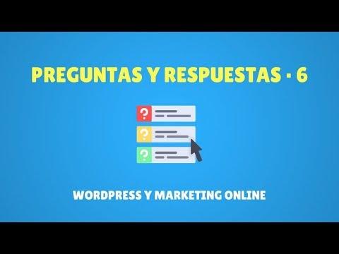 Preguntas y respuestas Wordpress y Marketing Online #6 - YouTube