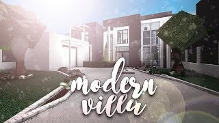Roblox | Bloxburg: Modern Villa | House Build