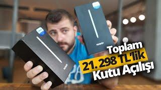 Galaxy Note 10'lar ofise geldi kutudan çıkarttık! 21.298 TL'lik kutu açılışı!