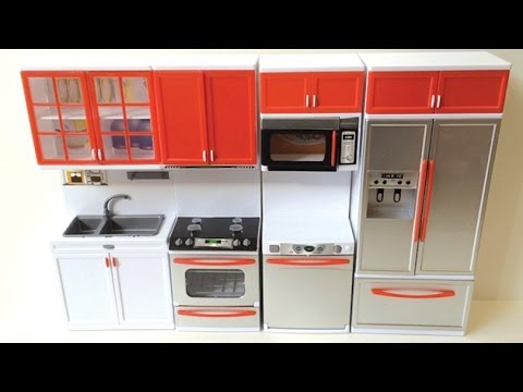 Re-ment Miniature Modern Comfort Doll Kitchen - YouTube