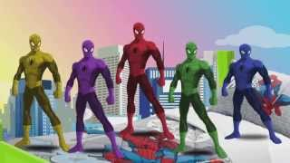Kids Song TV - Five Little Spiderman jumping on the Bed